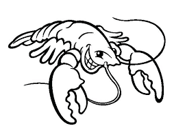 Lobster Coloring Page Smiling Lobster Coloring Page Maine Lobster Mo Willems Coloring Pages