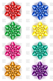 bows for gifts set of colorful bows for gifts royalty free vector clip image