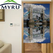 Decorative Window Shades by Myru London Font B Architecture B Font Nightscape Door Curtain Polyester Decorative Partition Mould Proof Font Jpg