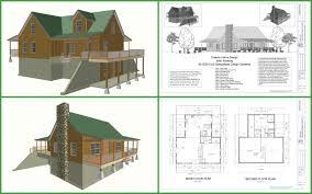 hillside cabin plans cabin plans and designs