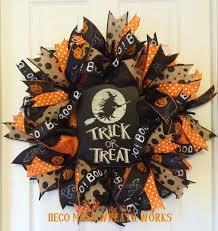 Pinterest Halloween Wreaths by Halloween Wreath Trick Or Treat Wreath Fall Wreath Autumn