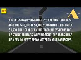 Sprinkler System Cost Estimate by How Much Do Irrigation Systems Cost