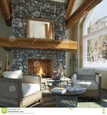 interior luxurious open floor cabin interior design roaring