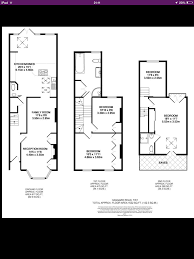 victorian terrace with loft and and back extension floor plan