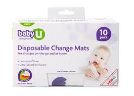 Disposable Changing Table Liners Baby U Disposable Change Mats 10 Pack Baby Bunting