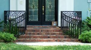 gorgeous wrought iron porch railing designs ideas home railing