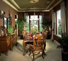 126 custom luxury dining room interior designs intimate formal dining room with plenty of design detail including ornate dining table that seats six