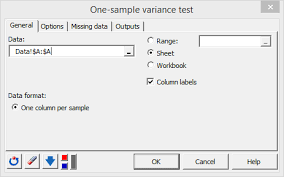 Tutorial Xlstat | one sle variance test in excel tutorial xlstat