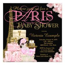 parisian baby shower pink baby shower invitations announcements zazzle