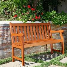 Wooden Outdoor Sofa Sets Henley 2 Seater Eucalyptus Wood Outdoor Bench Free Shipping