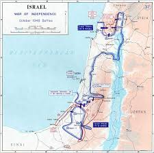 Map Israel Map Of Israel October 1948