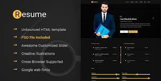 Resume Template Html Html Online Cv U0026 Resume Templates From Themeforest