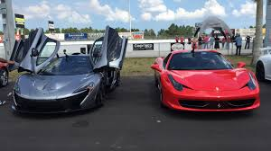 ferrari 488 vs 458 mclaren p1 and ferrari 458 at palm beach international raceway for