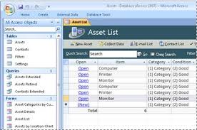 database template use the access assets database template access