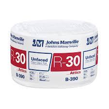sq shop johns manville r 30 31 25 sq ft unfaced fiberglass roll