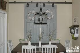 Barn Doors With Windows Ideas Sliding Barn Door Window Treatment The Pink Tumbleweed