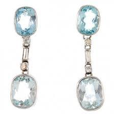 aquamarine drop earrings ness aquamarine diamond drop earrings