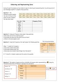collecting and representing data mixed worksheet by