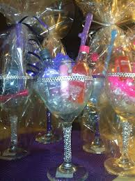 wine glass party favor bachelorette party favors glitter wine glass drinks gift idea