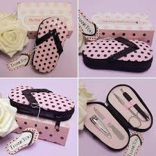 manicure set favors 20 pink polka slippers manicure set wedding party bridal shower