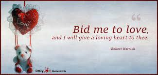 bid me bid me to and i will give a loving to thee