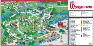 Lancaster Pennsylvania Map by Theme Park Brochures Dutch Wonderland Theme Park Brochures
