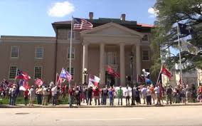 County Flags Confederate Flag Supporters Rally In York Sc The Herald