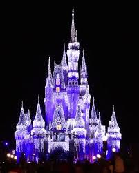 cinderella castle dream lights at magic kingdom in walt disney