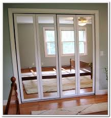 Bi Folding Closet Doors Mirrored Bifold Closet Doors Home Interior Design