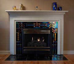 the tile shop design by kirsty artisan stone and tile fireplace