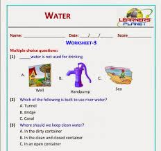 cbse class 2 water worksheets test papers videos printable