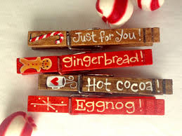 christmas clothespins hand painted magnetic pegs just for you