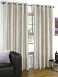 Living Room Curtains Silk Silk Cream Eyelet Curtains