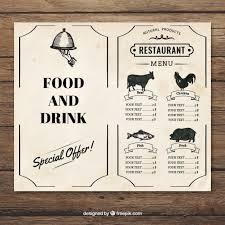 restaurant menu vintage template vector free download cups