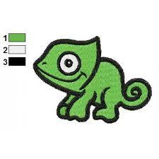 animal for kids chameleon embroidery design