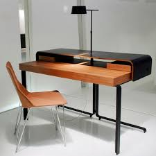 bureau ligne roset walnut desk steel contemporary commercial split by meike