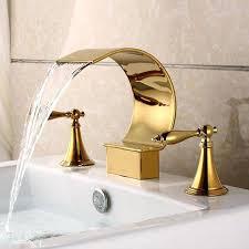 Antique Gold Bathroom Faucets Joyous Gold Bathroom Sink Modern Gold 3 Hole Widespread Bathroom