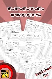 30 60 90 Triangles Worksheet Cpctc Proofs Two Column Proof Practice And Quiz Worksheets