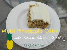 moist pineapple cake with cream cheese frosting my girlish whims