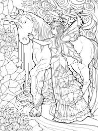 coloring pages of unicorns and fairies beautiful magical unicorn and fairies coloring page fantasy