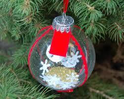 snow globe ornament hgtv
