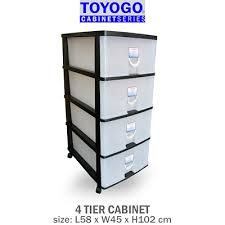plastic storage cabinets with drawers qoo10 toyogo storage furniture deco
