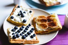 sample post blueberry waffles
