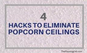 Easiest Way To Scrape Popcorn Ceiling by How To Plank A Popcorn Ceiling Hometalk