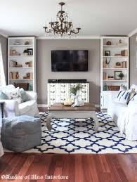 new living room rug shades of blue interiors