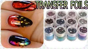 tutorial nail art foil 12 rolls nail art transfer foils cheap set newfrog com youtube