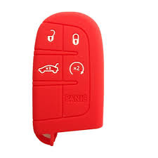 Dodge Challenger Red - amazon com new red silicone remote key protect holder cover fob