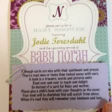 books instead of cards for baby shower poem book instead of a card search becky freda