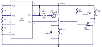 electronic thermostat circuit and working