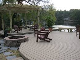 Stone Decks And Patios by Patio Deck With Fire Pit Building A Stone Socialmouthco Also Wood